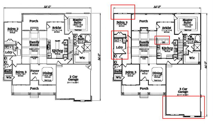 Example Floor Plan Modification Markup
