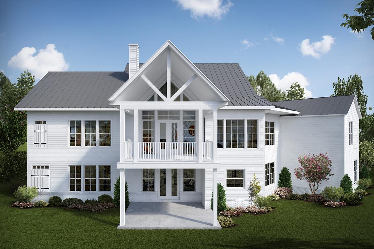 Craftsman 699-00118 back elevation · Craftsman House Plan ...