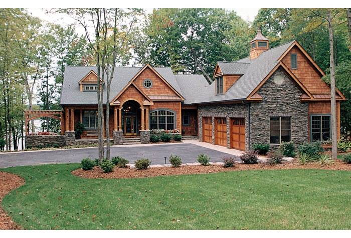 Featured house plan house plan 3323 00340 america 39 s for Lake front house plans