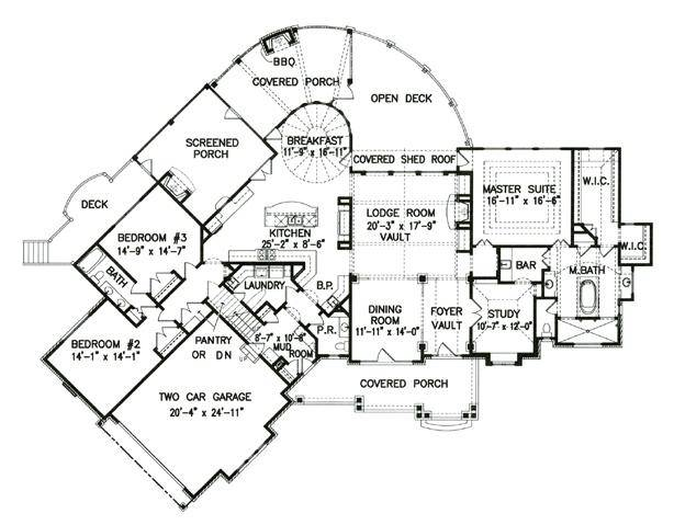 one - Large House Plans