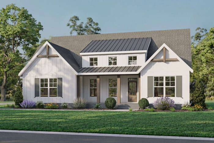 Modern Farmhouse Plan 009-00292