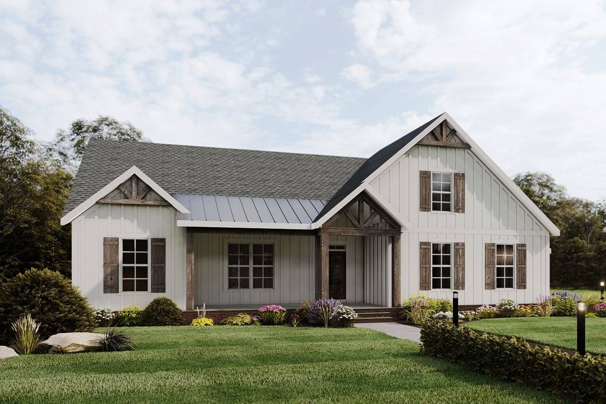 Modern Farmhouse Plan 009-00288