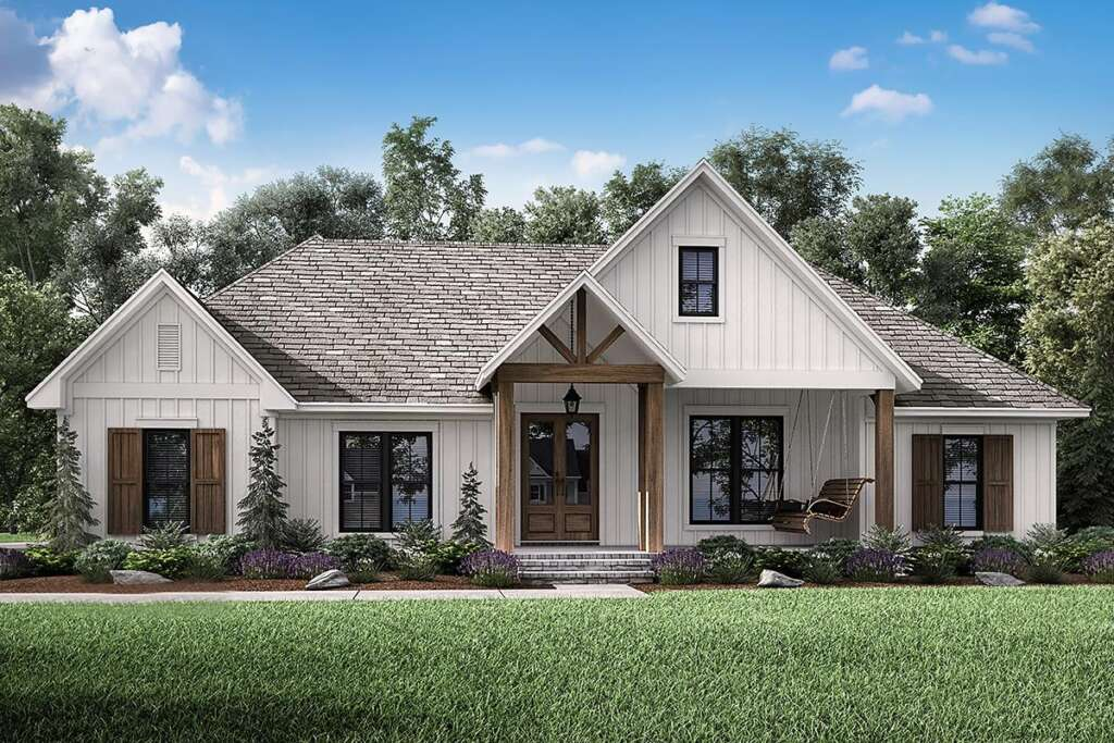 Modern Farmhouse Plan 041-00190