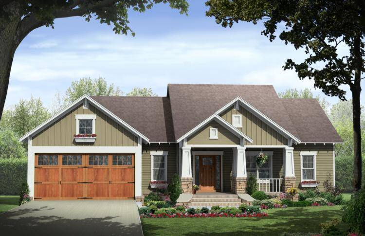Craftsman style house plan with character america 39 s best for Americas best small house plans