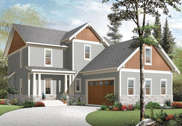 Narrow Lot House Plan 034-01030