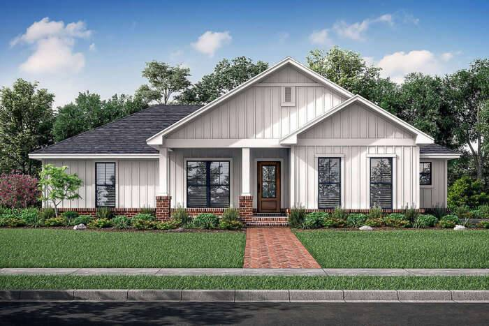 Modern Farmhouse Plan 041-00214