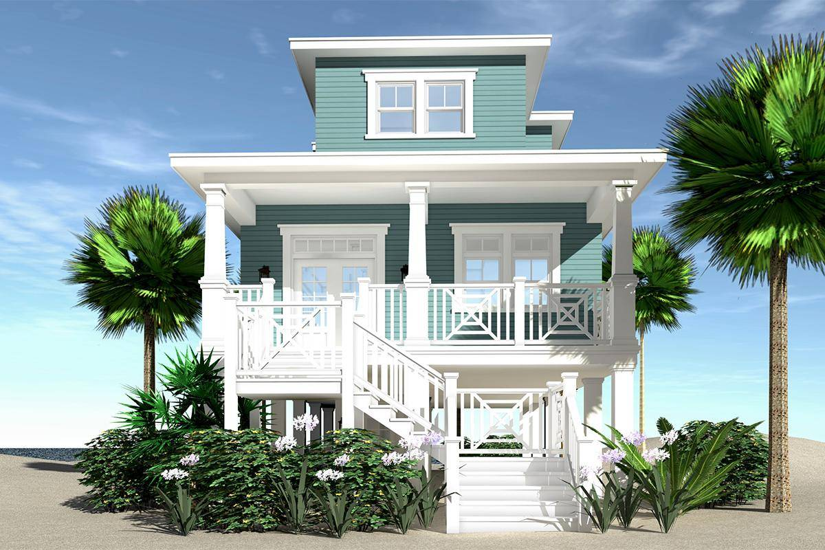 Coastal House Plan 028-00118