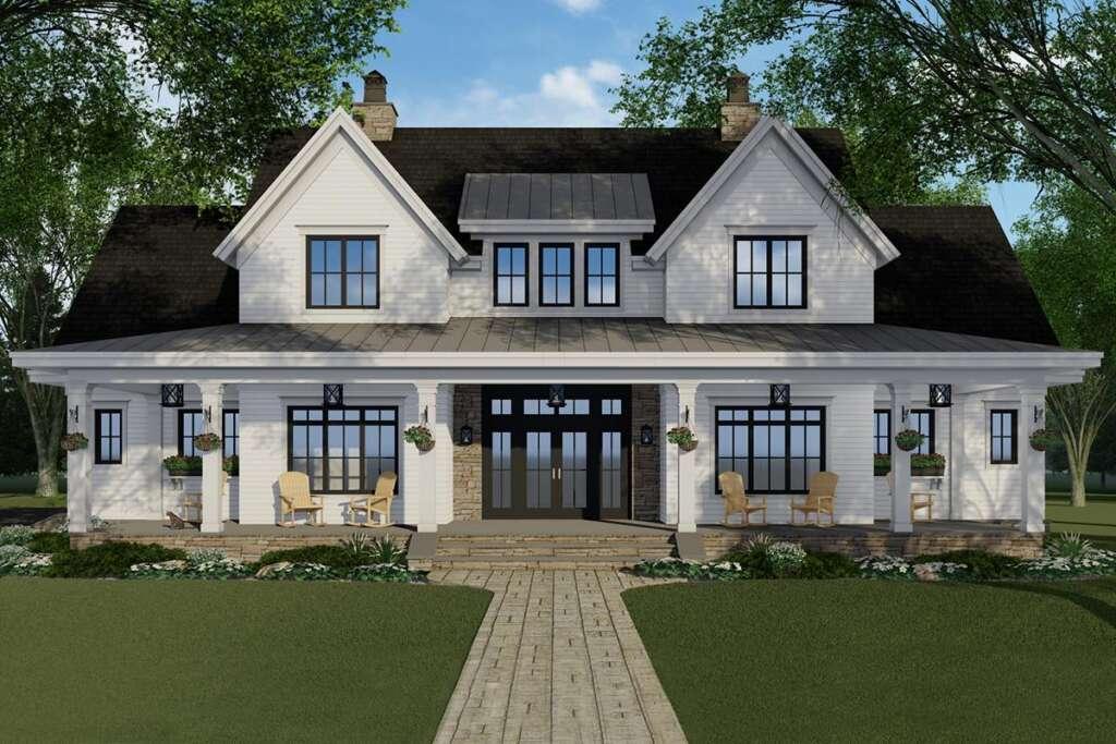 Modern Farmhouse Plan 098-00316