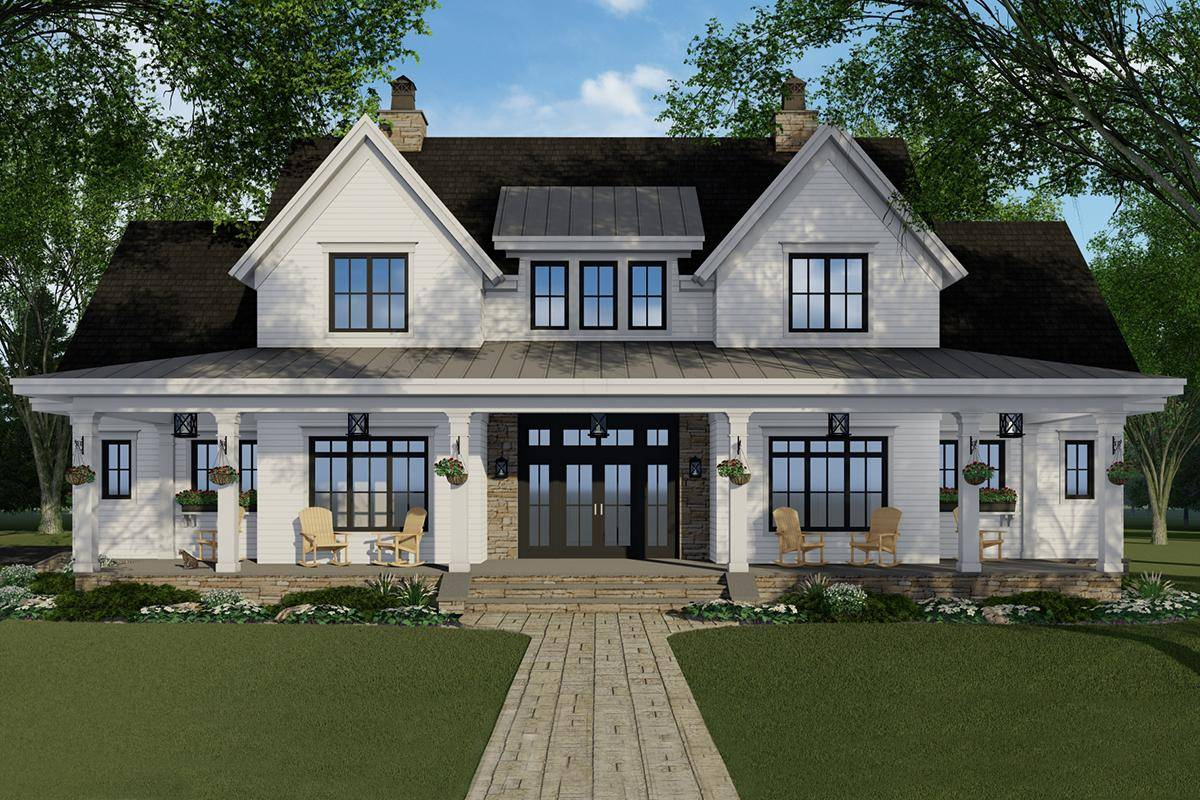 Modern Farmhouse House Plan 098-00316