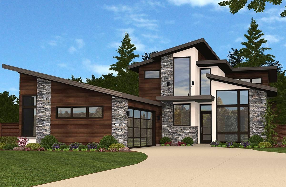 Mid Century Modern House Plan 1022-00002