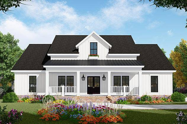 Modern Farmhouse Plan 348-00281