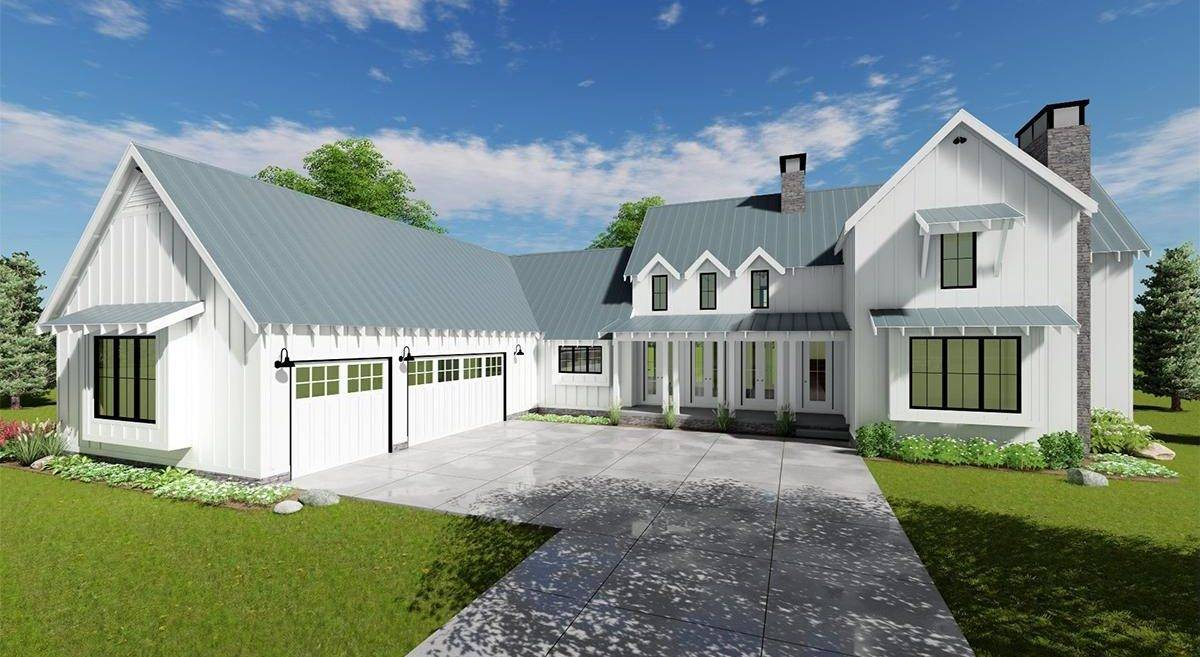 Modern Farmhouse Plan 963-00153
