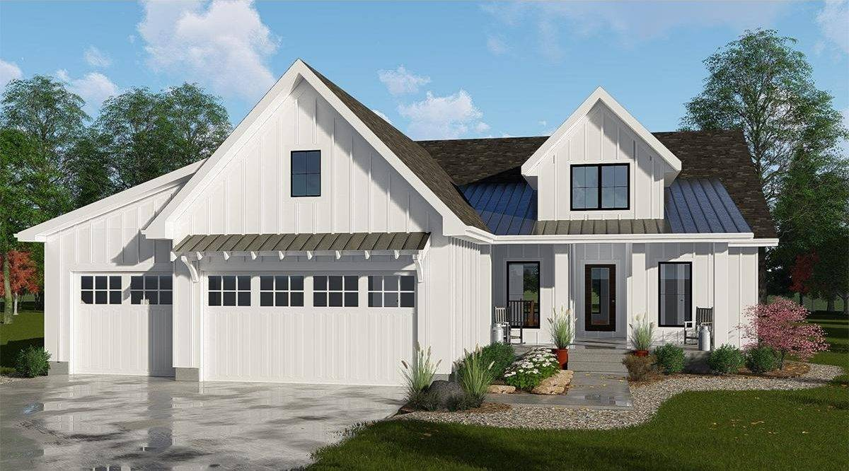 Modern Farmhouse Plan 963-00160