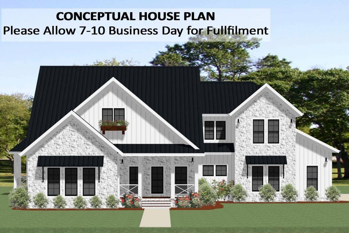 Modern Farmhouse Plan 6849-00082