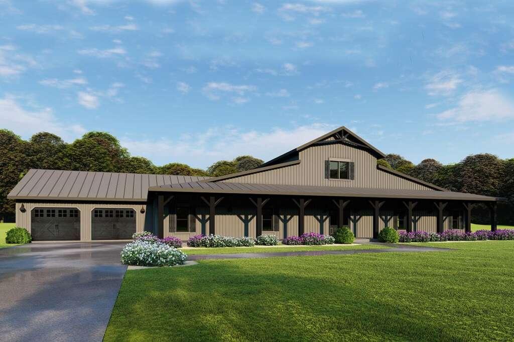 Barn House Plan 8318-00115