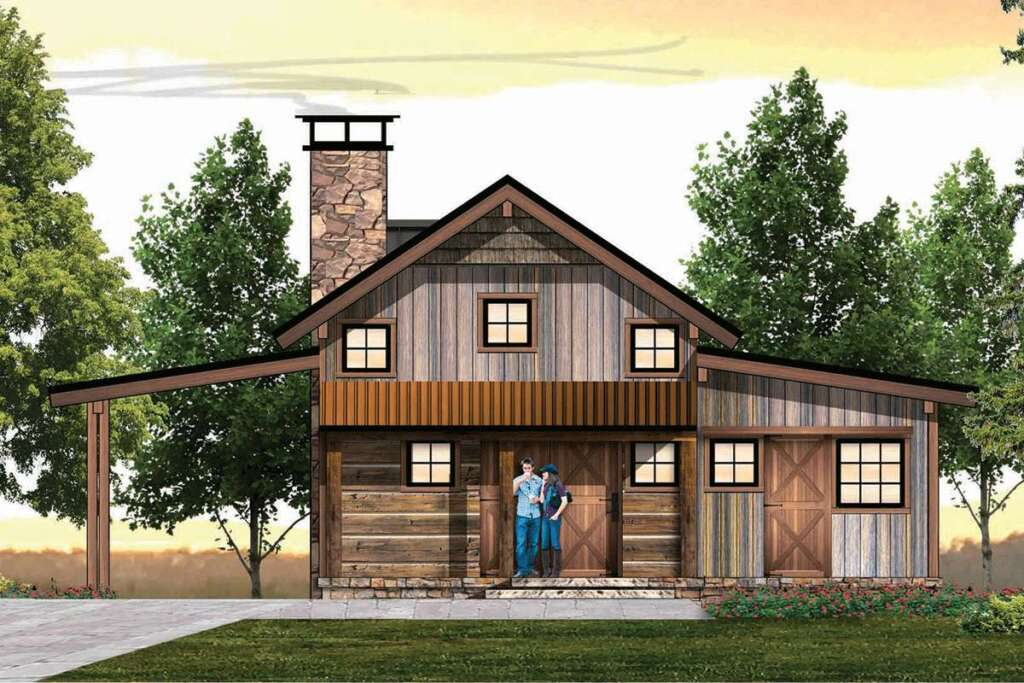 Cabin House Plan 8504-00158