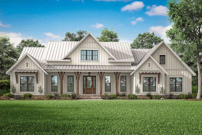 Modern Farmhouse Plan 041-00206 #1