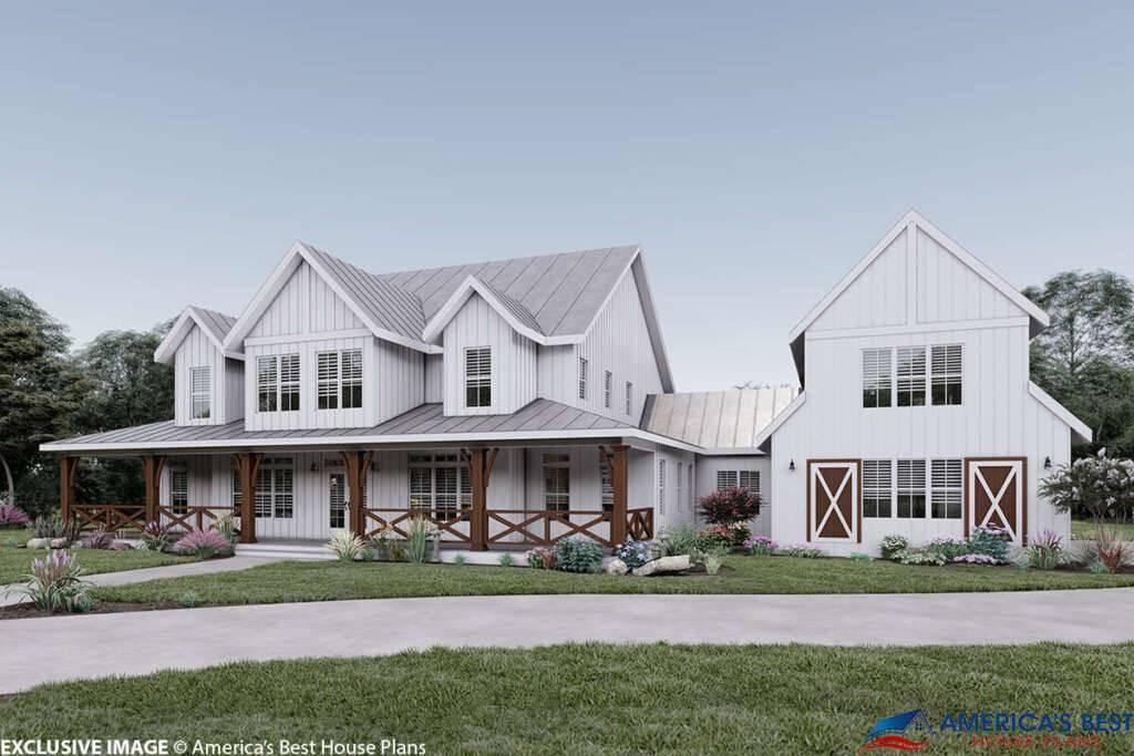 Modern Farmhouse Plan 6849-00064