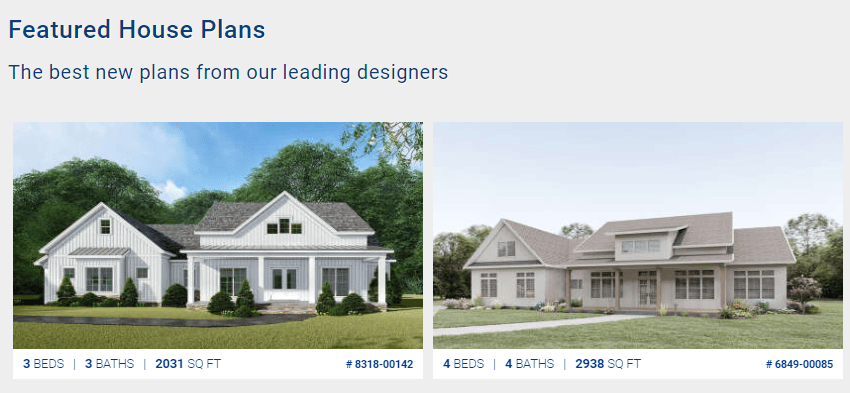 Featured home plans