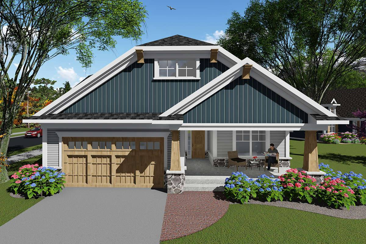 Bungalow House Plan 1020-00054