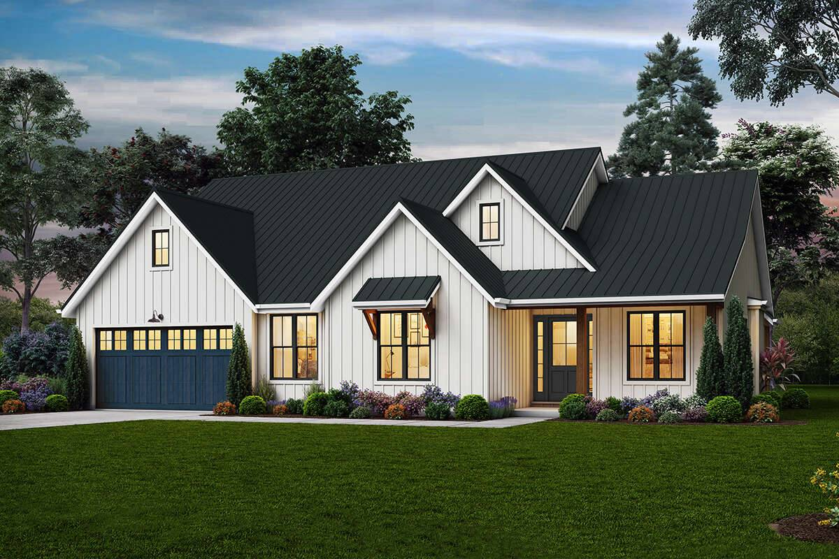 Modern Farmhouse Plan 2559-00848
