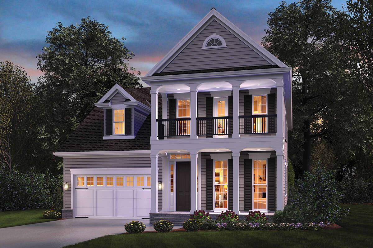 Colonial House Plan 2559-00907