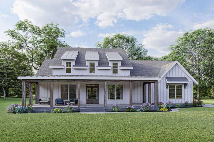 Modern Farmhouse Plan 009-00301