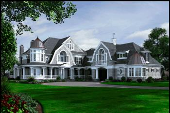 Farmhouse plan 10 275 square feet 5 bedrooms 7 5 for Large cape cod house plans