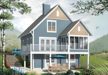 Cabins And Tiny Houses further Fishing Cabin Designs also 20195898299131630 as well Walkout Basement House Plans likewise 1909 English Manor Home In Lake Forest Il. on lakefront house plans screened porch