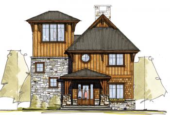 Mountain plan 2 232 square feet 3 bedrooms 3 bathrooms for House plans with observation room