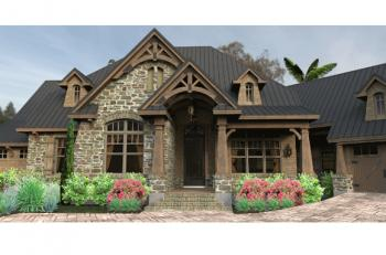 3 Bed, 2 Bath, 2466 Square Foot House Plan #9401-00011