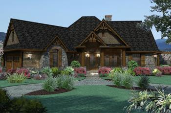 Craftsman plan 1 848 square feet 3 bedrooms 2 bathrooms for Www houseplans net