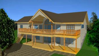 Lake Front Plan 2 544 Square Feet 4 Bedrooms 2 5
