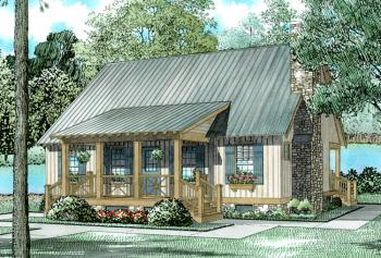 3 Bed, 2 Bath, 1374 Square Foot House Plan #110-00310