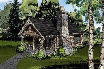 Cabin plan 360 square feet 1 bedroom 1 bathroom 1907 for Www houseplans net