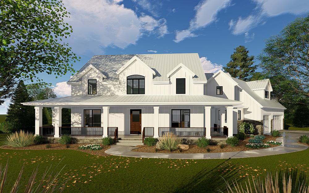 Modern Farmhouse Plan: 3,467 Square Feet, 4 Bedrooms, 3.5 ...