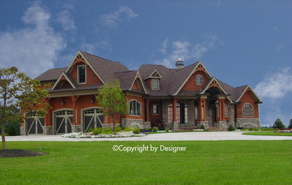 4 Bed, 4 Bath, 4440 Square Foot House Plan #699-00069