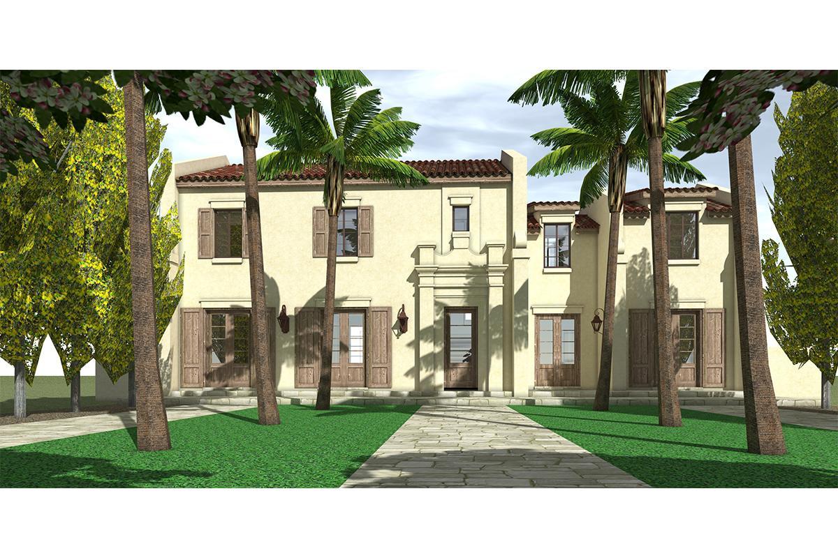 Mediterranean plan 2 518 square feet 3 bedrooms 3 for Www houseplans net