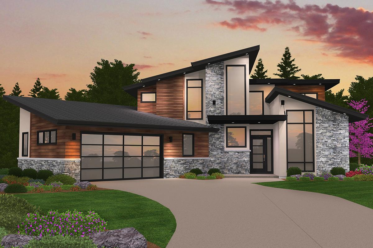 Modern House Plans | Contemporary Home & Floor Plan Designs on