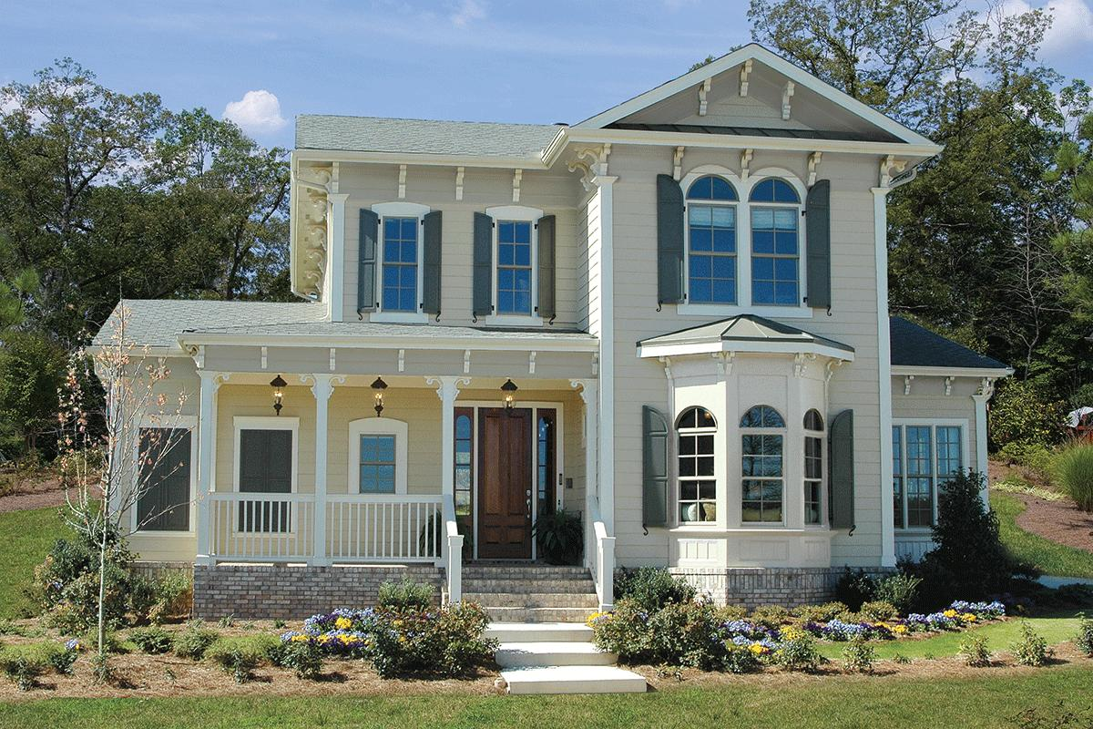 Victorian Style House Plans | Queen Anne Home & Floor Plan