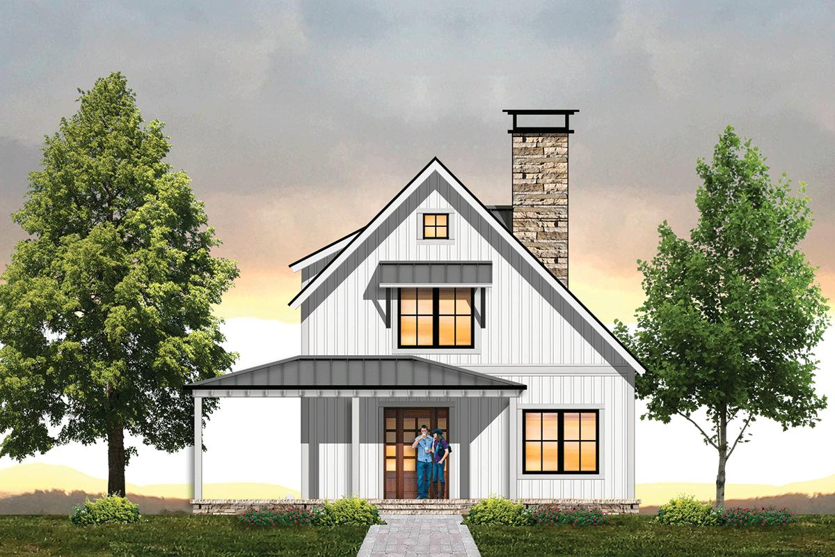 2 Bed, 2 Bath, 1240 Square Foot House Plan #8504-00134