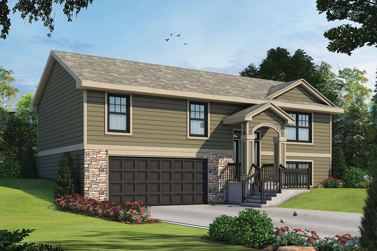 3 Bed, 2 Bath, 1150 Square Foot House Plan #402-01592
