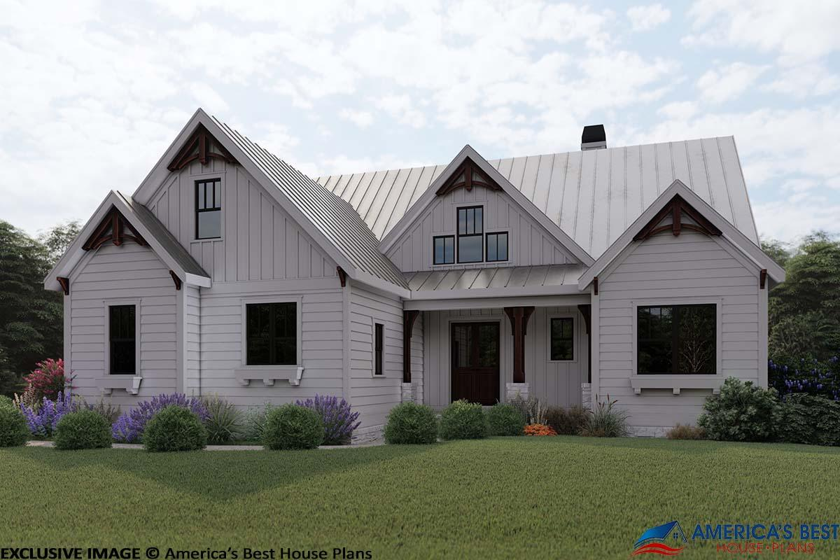 Modern Farmhouse Plan: 2,205 Square Feet, 3 Bedrooms, 2.5 ...