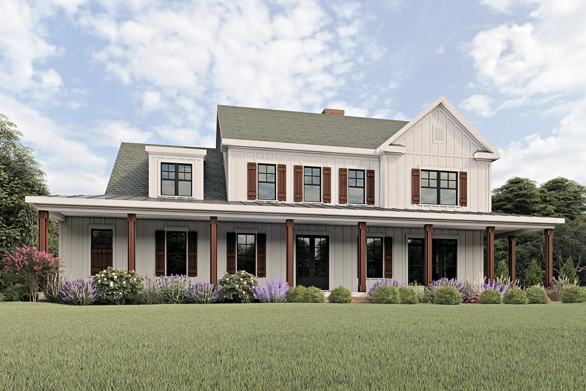 4 Bed, 3 Bath, 3706 Square Foot House Plan #009-00277
