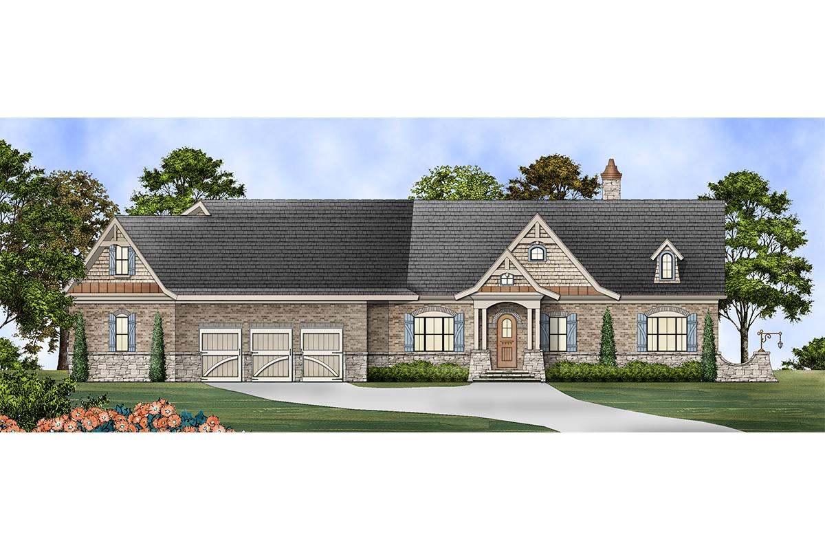 3 Bed, 2 Bath, 3260 Square Foot House Plan #4195-00034