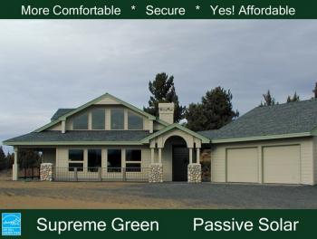 Passive solar plan 2 119 square feet 2 bedrooms 2 5 for Passive solar ranch house plans