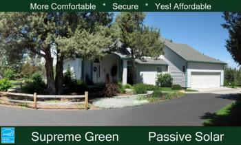 Passive solar plan 2 189 square feet 2 bedrooms 2 for Passive solar ranch house plans