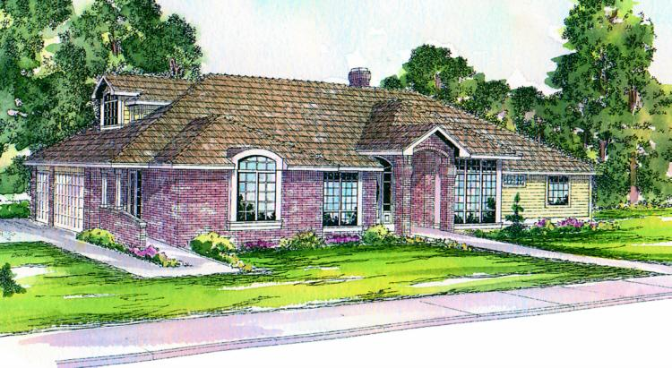 3 Bed, 3 Bath, 2950 Square Foot House Plan - #035-00003
