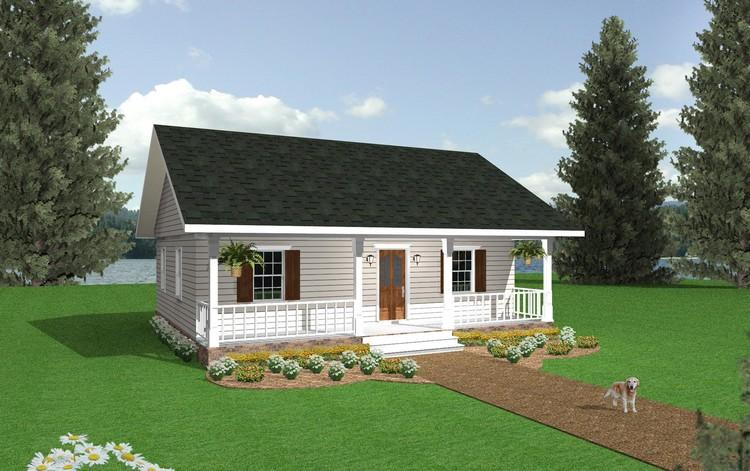 Cottage Plan: 864 Square Feet, 2 Bedrooms, 1 Bathroom ...