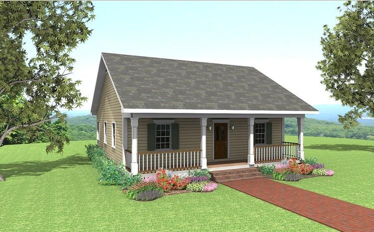 2 Bed, 1 Bath, 1007 Square Foot House Plan - #1776-00003
